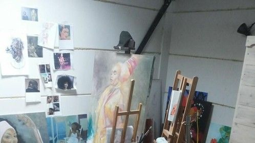 my studio..back to traditional working