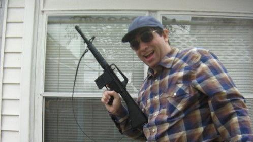 Here I am as a gun toting redneck.