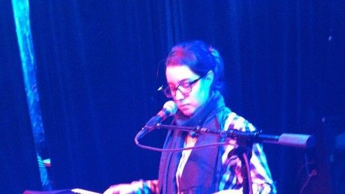 Playing keyboard at Red Devil Lounge, SF