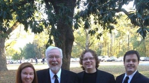 Soloists and conductor at historic Berry College Chapel concert.