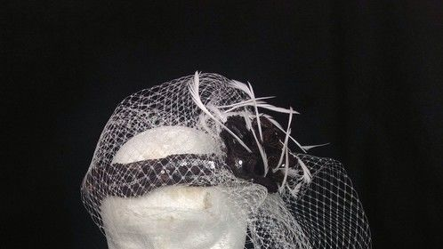 A little fascinator style hat ..hats are my favorite thing to create.