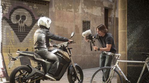 BTS Picture of Volta Motorbike's shooting