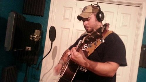 Laying down some tracks for Russell Reed Coastal Cowboy