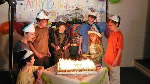 Birthday Party scene for Forrest, the main character in this whimsical tale.