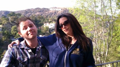 w/ Actress/Director/Writer Debbie Rochon on the set of 'Disciples'