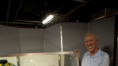 Photo shoot with Bill Walton at a charity event