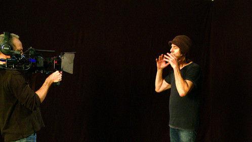 Shooting a MCU of James Koskinas for the Twilight Angel