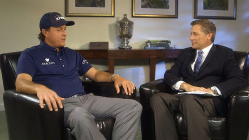 "Phil Mickelson & Bill Macatee for CBS: ""Geico Presents Golf's Best 2013"""
