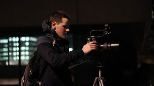 Shooting with the C100 last night in central London