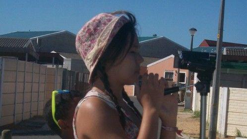 On set, with Cinematic Kids SA