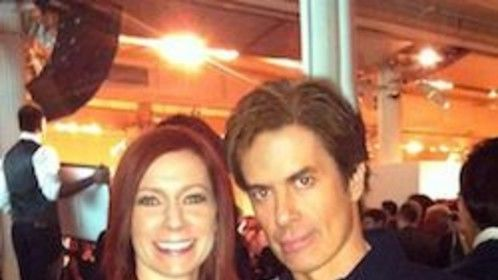 Carrie Preston (True Blood) and I at a fundraising auction for NYC Artist.