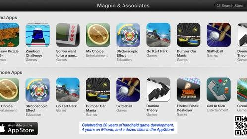 Magnin & Associates iOS games on the AppStore.