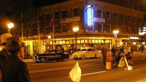 Scene shot outside of the Fox Theater in Saint Louis