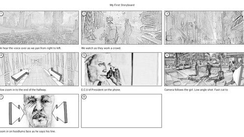 storyboarding for the first episode.