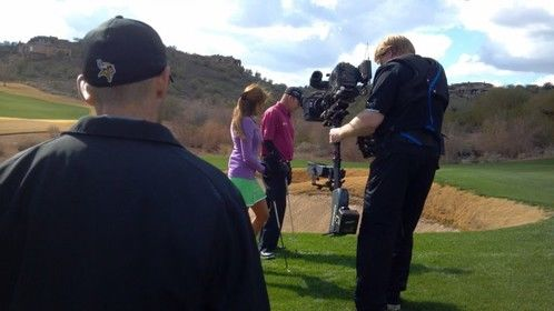 Shooting for the Golf Channel with the Steadicam Ultra