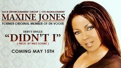 """It's official! The brand new debut single """" Didn't I """" by Maxine Jones (prod. by NRG SOUNZ™) will be released on May 15th."""