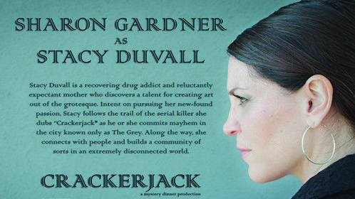 "Sharon Gardner is Stacy Duvall in ""Crackerjack"".  Shooting soon!"