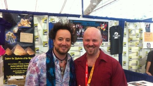 I was very excited to meet Giorgio A. Tsoukalos (Ancient Aliens) at the 2012 San Diego Comic Con