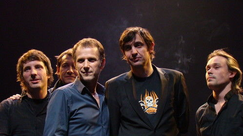 With Charles Berling and the musicians . Paris 2012