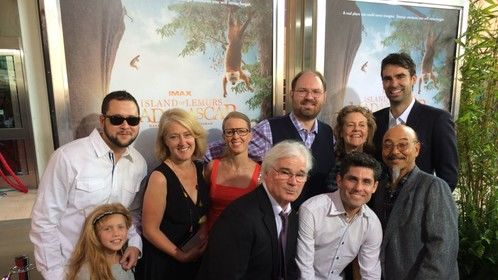 """At the Premiere of """"Island of Lemurs: Madagascar"""". I created an animated intro for this beautiful IMAX nature doc."""
