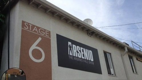 """Outside the Arsenio studio in L.A. I'm going to be on a sketch called """"Where You Going?"""""""