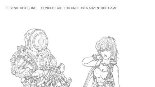 """""""Undersea Characters"""" - Concept Art - EigenStudios, Inc."""
