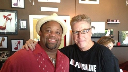 With my dear friend Actor, comic and producer Mark Christopher Lawrence.