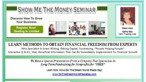 Check out the Show Me The Money Seminar Flyer...