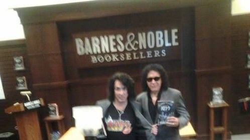 Paul and Gene at the book signing.