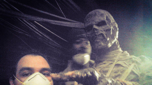Posed with the mummy
