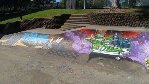 Great to see this cool graffiti on the Woree skate bowl. We don't mind this stuff!