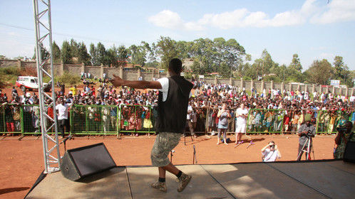 T.O. live on stage in Kenya www.TOinkenya.tumblr.com
