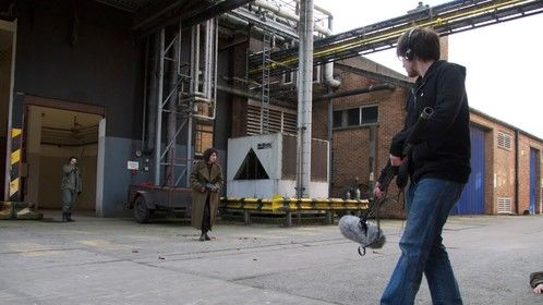 On location for 'Warhouse' a student university project; acting as boom operator, sound recordists and sound editor.