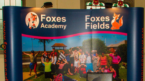 Foxes Academy and Foxes Fields School exhibition stand 2014 designed by myself.