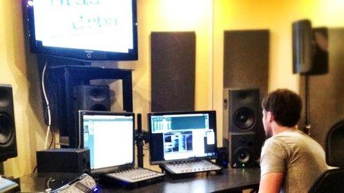 Brad Urba working on a film at Postal Sound Studio