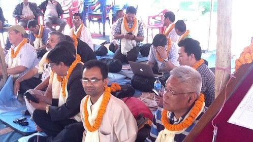 Sit - In  relay Hunger Strike at Nepal Tourism Board