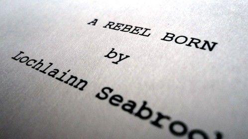 """A Rebel Born"" - title page"