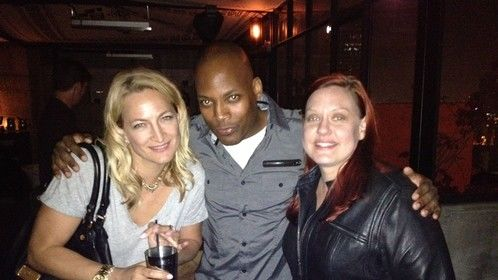"Me and Zoe Bell at Tarantino's ""Hateful Eight"" reading afterparty. Awesome time!"