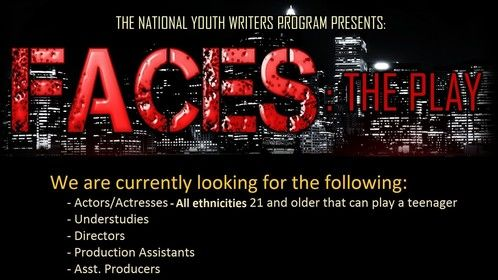 The most anticipated stage play of the season FACES written by New York Times Best Selling Author JL King  is currently casting for positions and characters.  For more information please following directions as noted on the flyer.