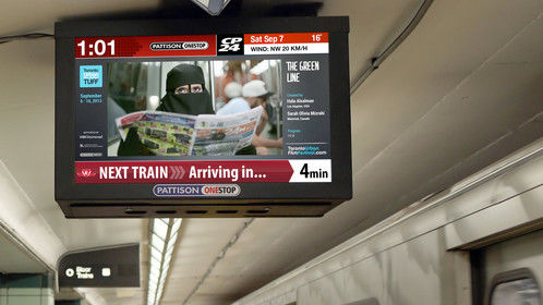 Your 1-minute silent film shared with over 1 million commuters daily in Toronto during the Toronto International Film Festival.