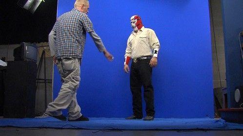 On set shooting El Alambrista for his big border fence jump... I was VFX Supervisor on the film.