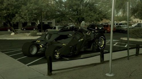 My dream ride.... 3D model of the Tumbler added to real video...