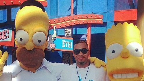 Homer, Bart & I at Universal Studios CA.