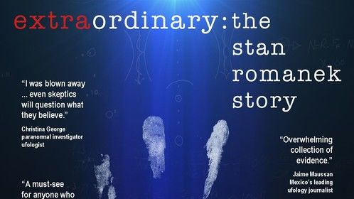 "Movie poster for the award-winning documentary ""extraordinary: the stan romanek story"""