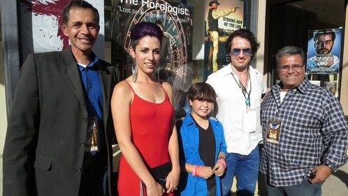 At the Premiere of The Horologist at the Jerome Film Festival