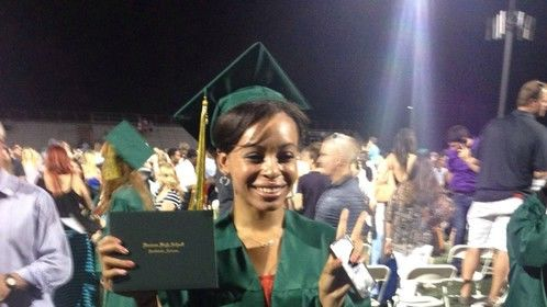 Valerie's graduation picture at Horizon High School May 2014