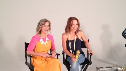 Julie-Anne Black and Carla Bonner on set at Be Brilliant Now LIVE