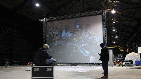 31st Street Studios... 30' wide projection... 15K projector.
