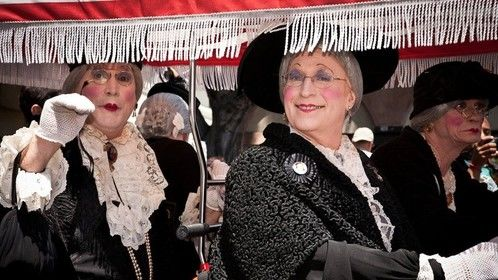 Greeting our fans at the Doodah Parade, Pasadena California