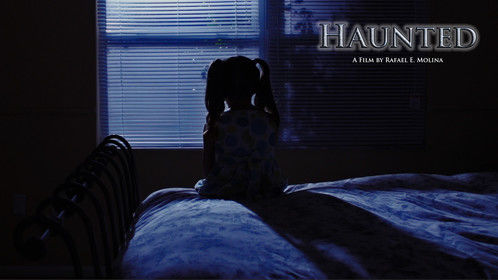"Teaser poster for my new short film ""Haunted"""